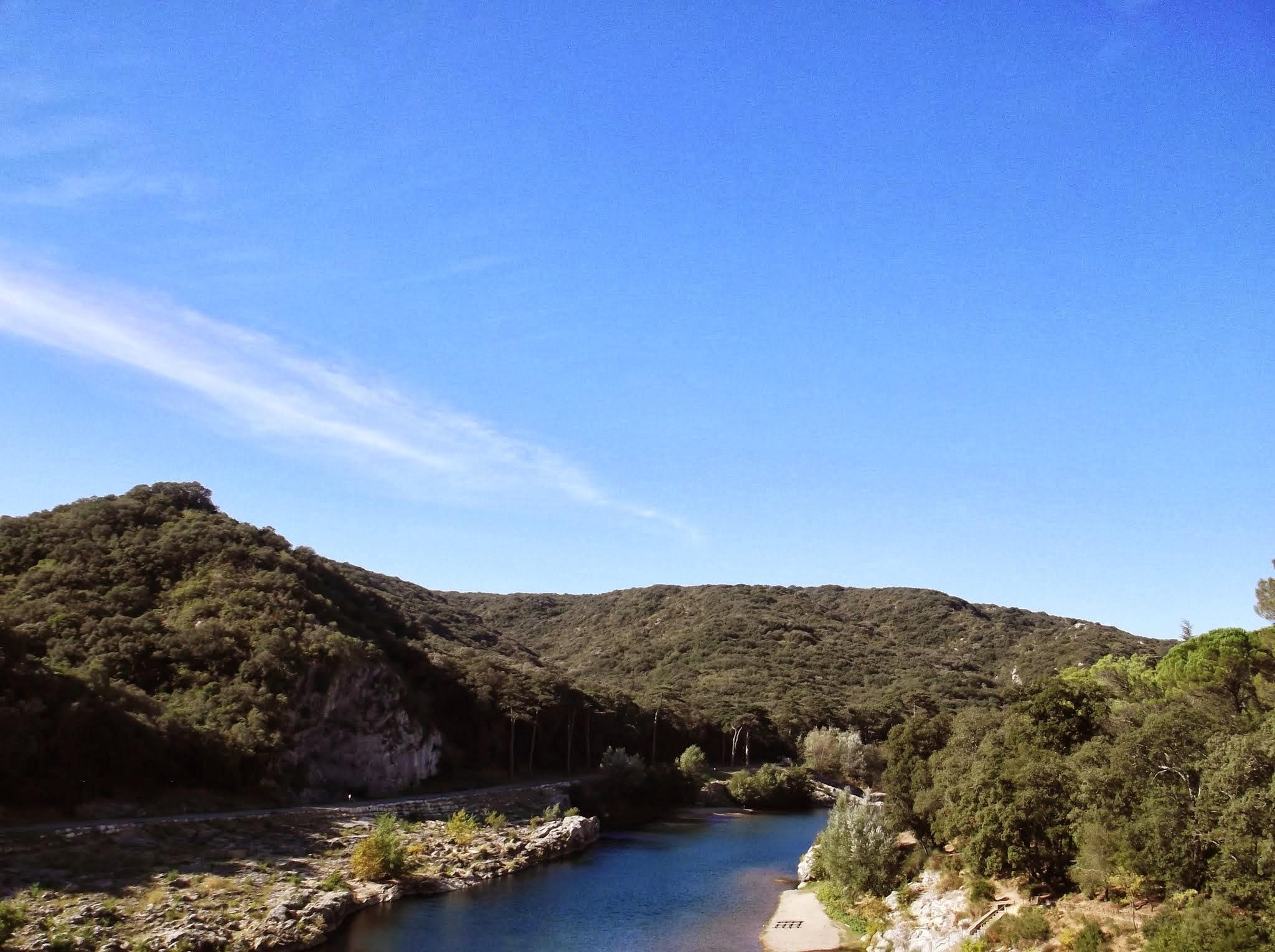 View from Pont du Gard