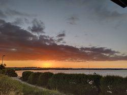 sunset over carantec